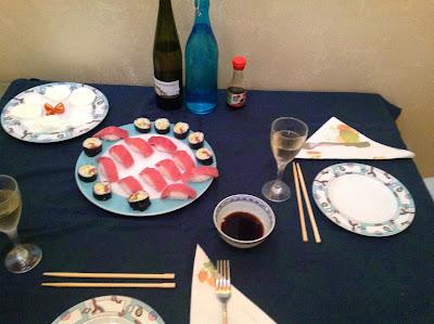 sushi fatto in casa, nigiri e maki