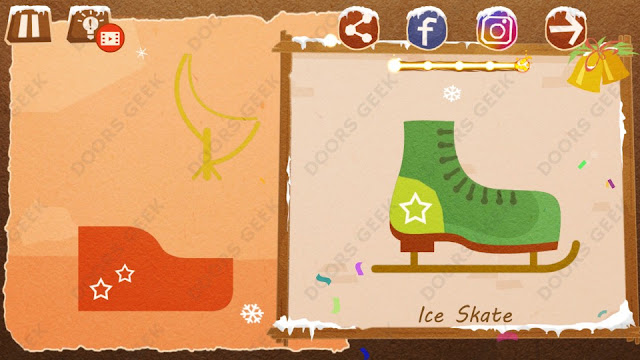 Chigiri: Paper Puzzle Christmas Pack Level 14 (Ice Skate) Solution, Walkthrough, Cheats