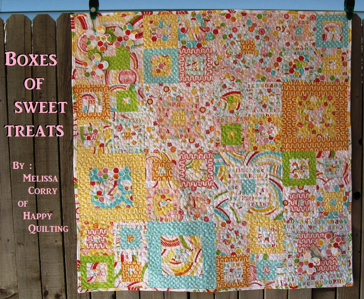 Happy Quilting Boxes Of Sweet Treats A Baby Quilt Tutorial