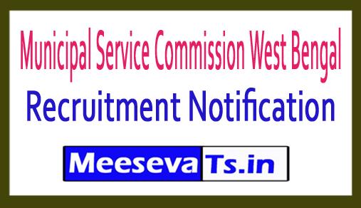 Municipal Service Commission West Bengal  MSCWB Recruitment