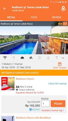 booking hotel murah reddoorz taman lebak bulus
