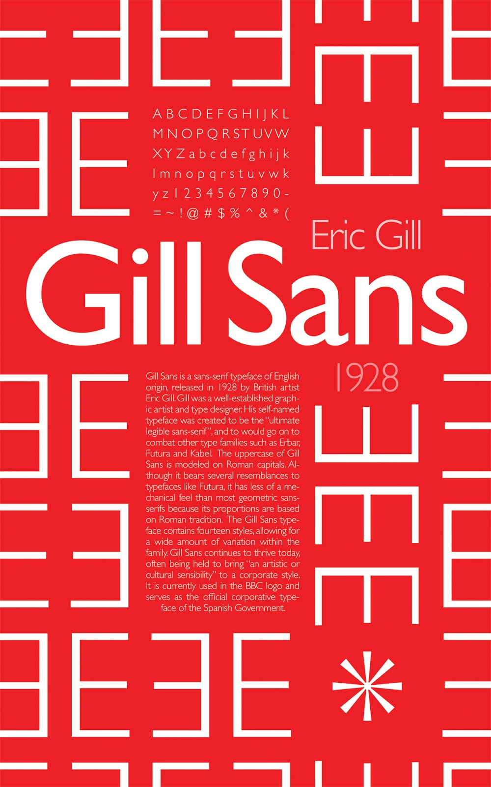 Text My Phone >> Projects: Gill Sans Poster