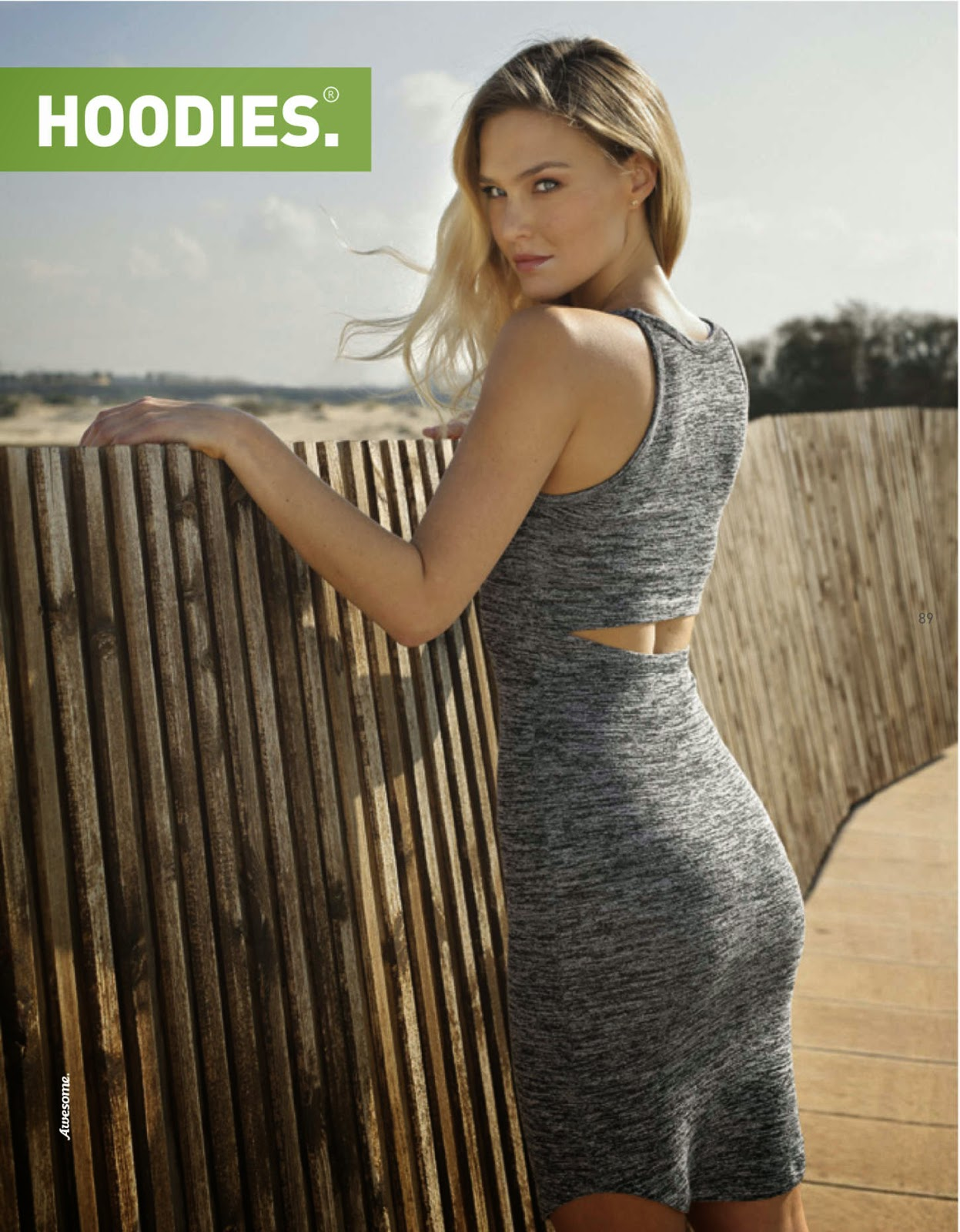 Hoodies Spring/Summer 2015 Lookbook featuring Bar Refaeli