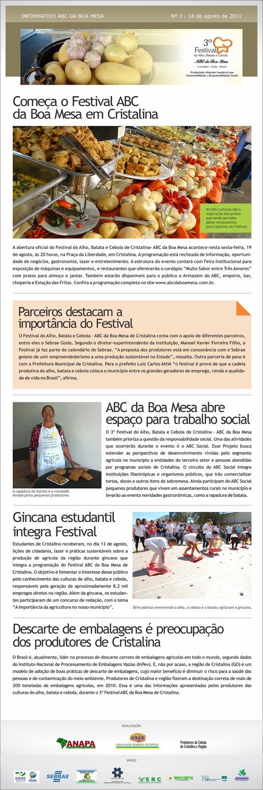 Informações do Festival ABC da Boa Mesa