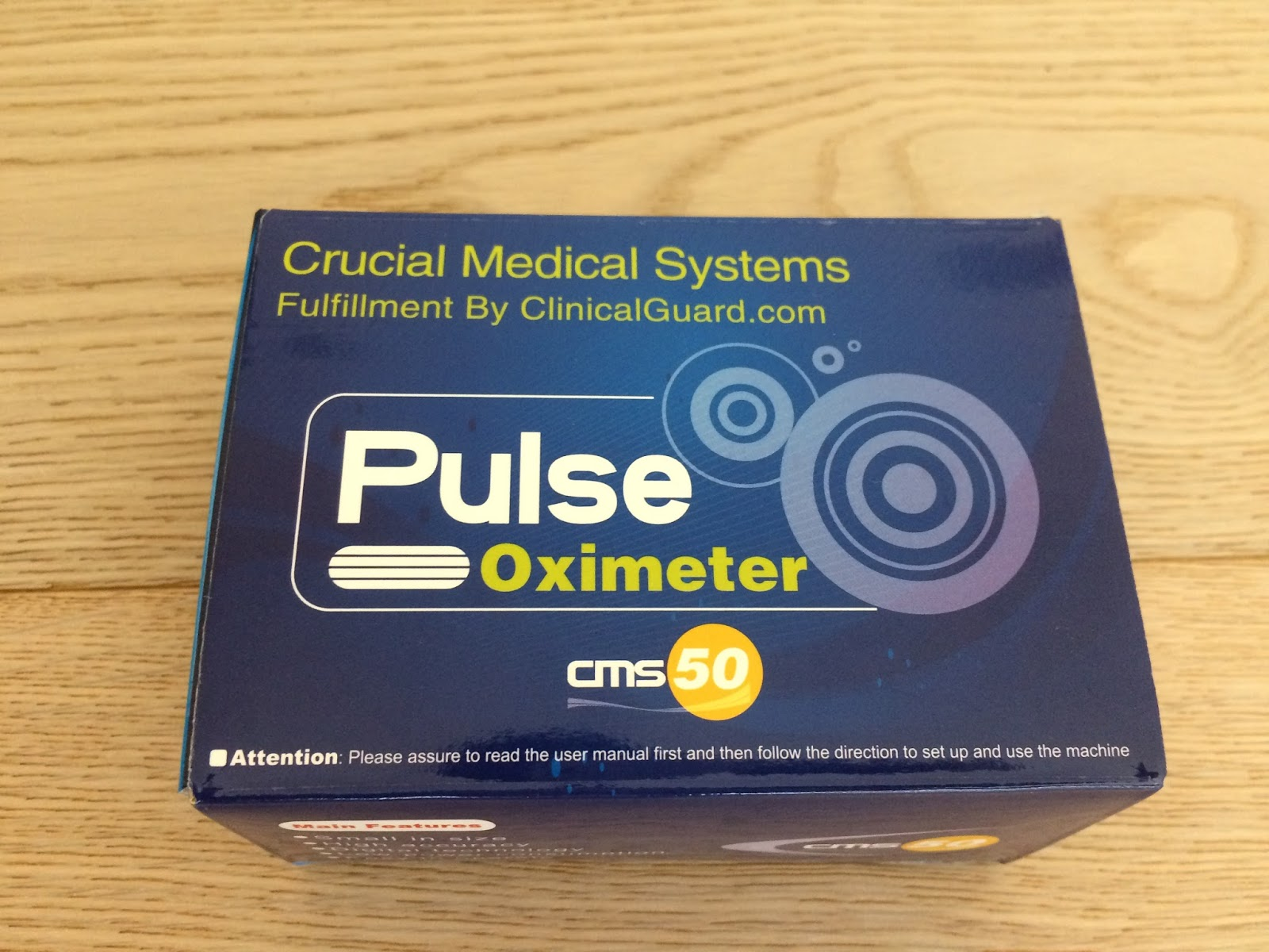 Crucial Medical Systems CMS 50E OLED Rechargeable Fingertip Pulse