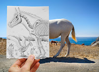 Ben Heine Art - Pencil Vs Camera - Drawing Vs Photography
