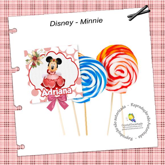 capa de pirulito da Minnie
