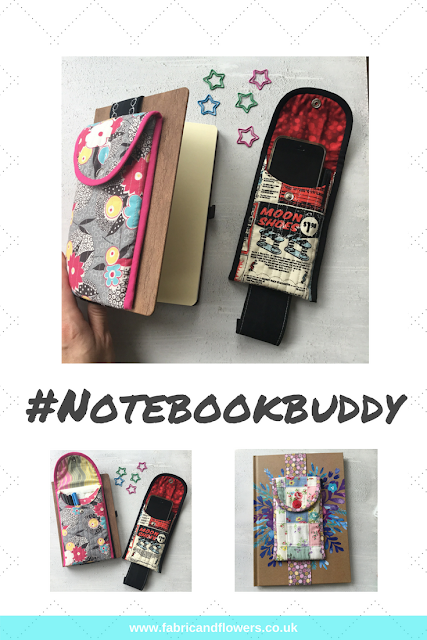 Notebook Buddy, Pencil Case, PDF Pattern, fabricandflowers