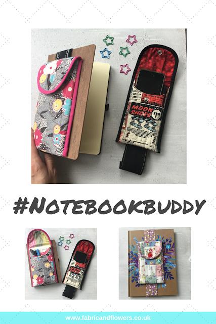 Notebook Buddy, Pencil Case, PDF Pattern, fabricandflowers