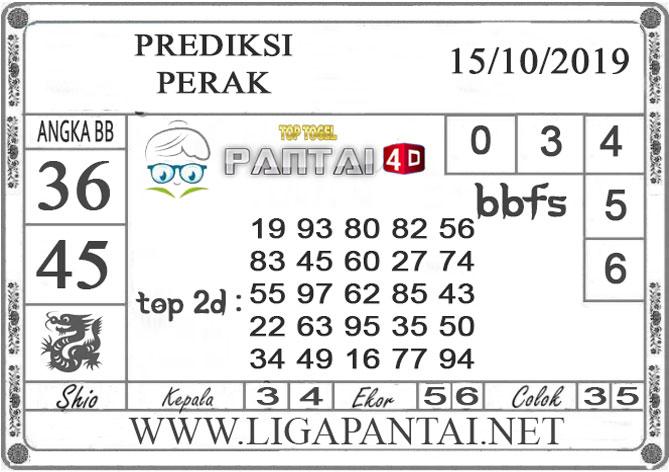 """PREDIKSI TOGEL """"PERAK"""" PANTAI4D 15 OKTOBER 2019"""