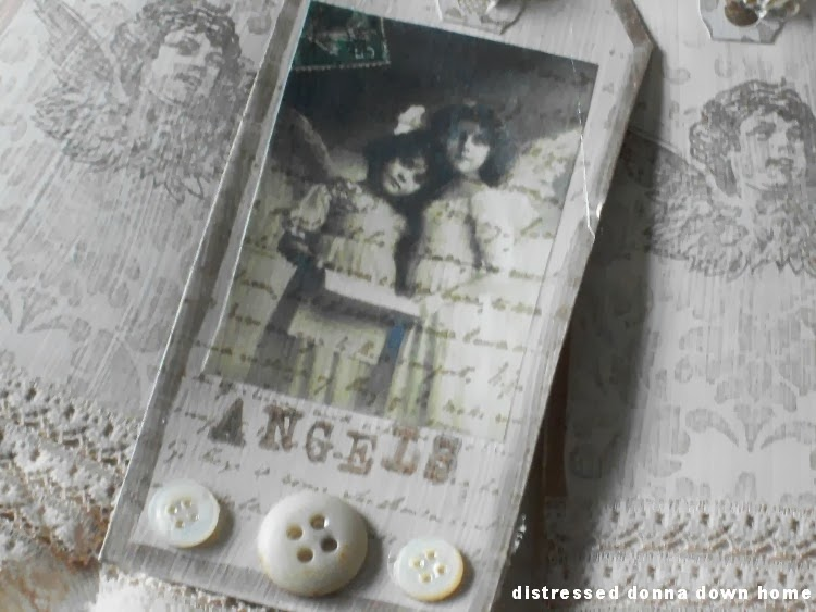 vintage images, journal tags, altered art
