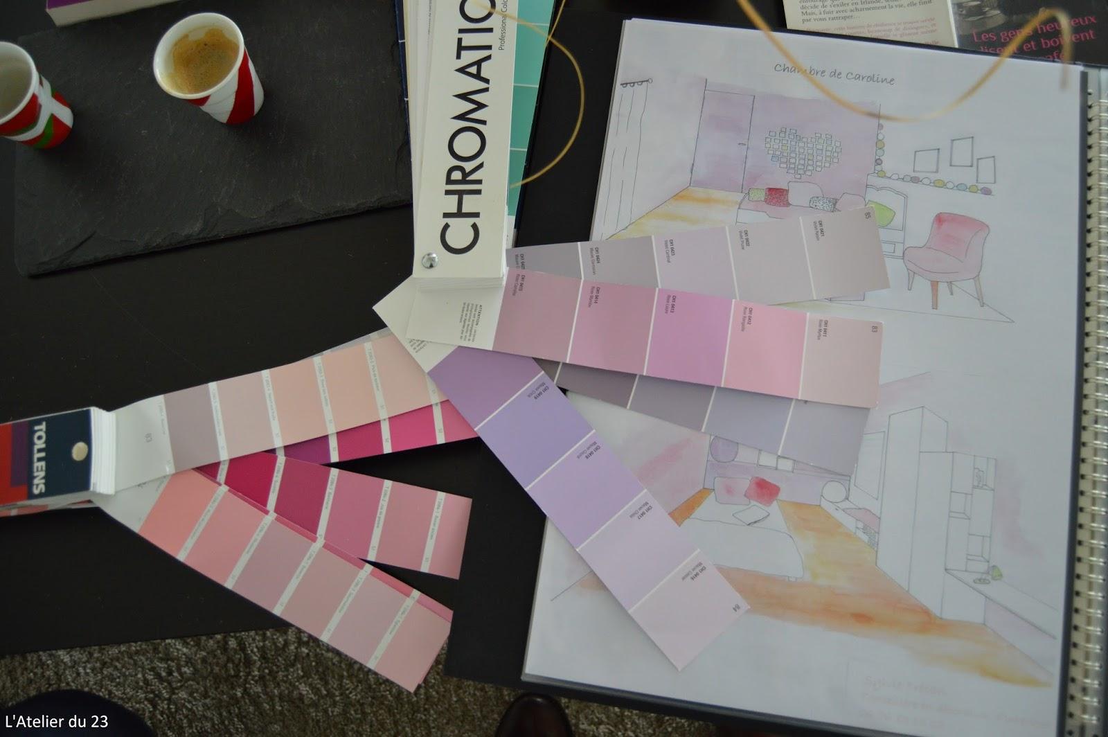 L 39 atelier du 23 choix des peintures pour les chambres de lara et caroline - Choix de peinture pour chambre ...