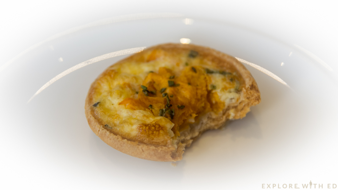 Butternut squash and Rosemary tartlet