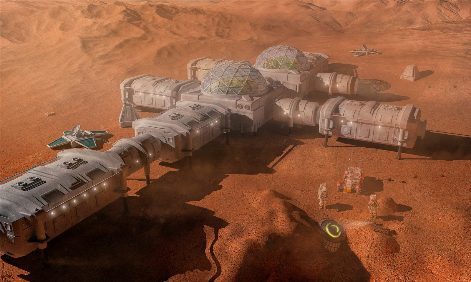 Mars base by Christian Gruner