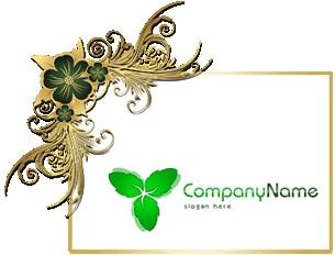 تحميل شعار ورق نعناع مفتوح للفوتوشوب, Mint leafs psd logo design download