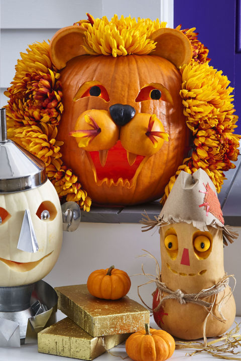 kids easy DIY pumpkin lion animal adorable carve