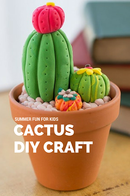 Cactus DIY Kids Clay Craft How To