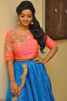 Nithya Shetty in Orange Choli at Kalamandir Foundation 7th anniversary Celebrations ~  Actress Galleries 035.JPG