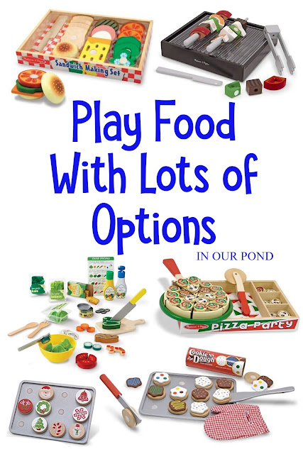 Best Play Food for the Toy Kitchen // In Our Pond // Gift Guide for Kids // Fuel the imagination // Pretend Play // Large collections of pieces give lots of play potential