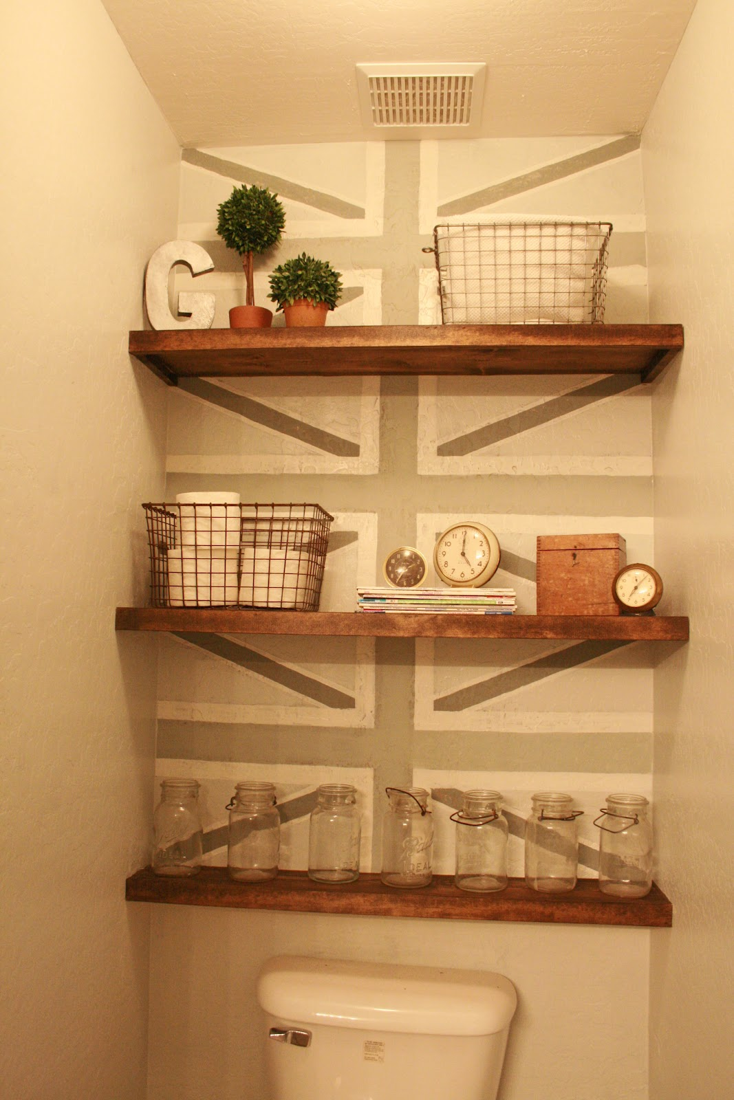 Ideas Bathroom Shelves Home Tour By Grand Designs The Painted Home By