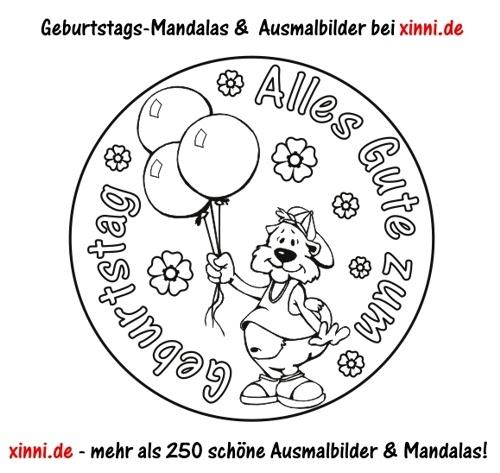 Mandala Free Malvorlage Geburtstag Zum Download