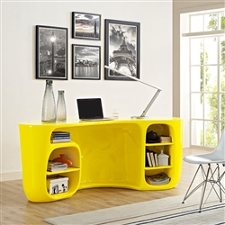 Bright Yellow Modern Office Desk