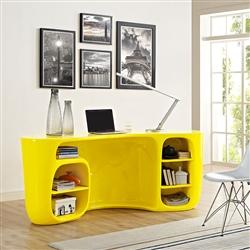 Bright Yellow Modern Office Desk