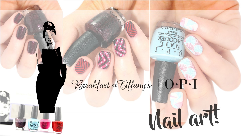 OPI Breakfast at Tiffany\'s Minis and nail art - Nailderella