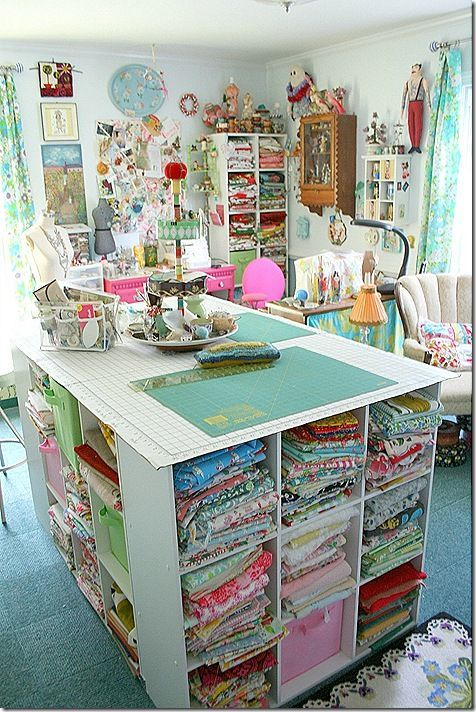 17+ Inspirational Sewing Room Organizing Ideas