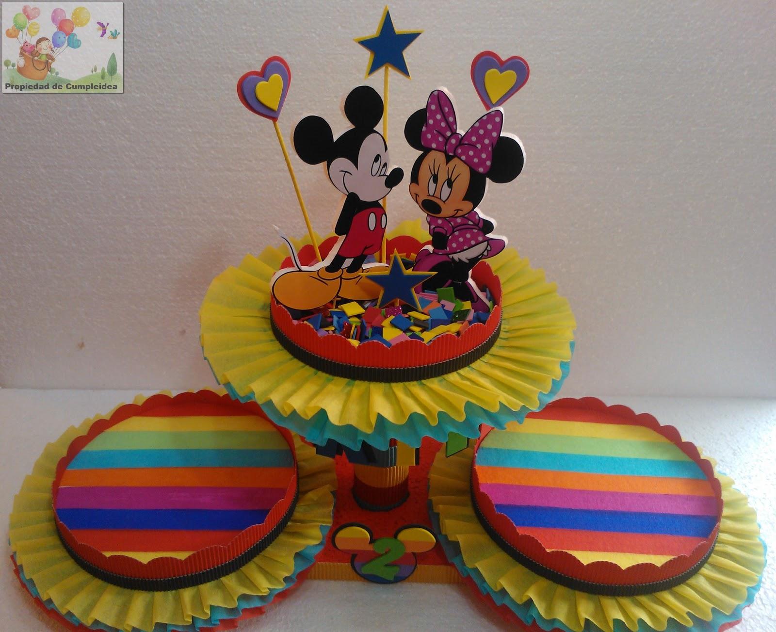 Dulceros Fieltro Bolsita Silueta Minnie Mickey Mouse Hawaii Pictures