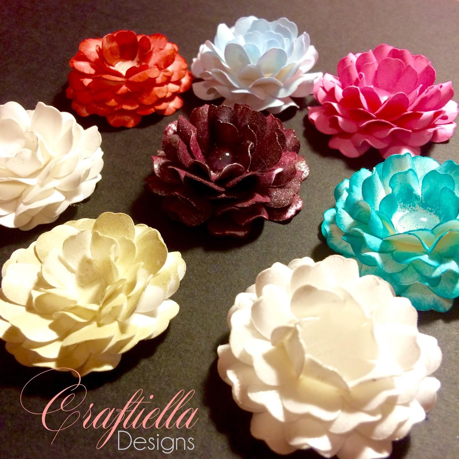 Mini Paper Flowers Cricut Craftiella Designs