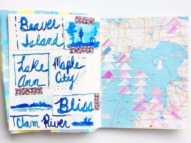 2x2, 2x2 Sketchbook, sketchbooks, collaborations, artist collaboration, maps, Dana Barbieri, Anne Butera