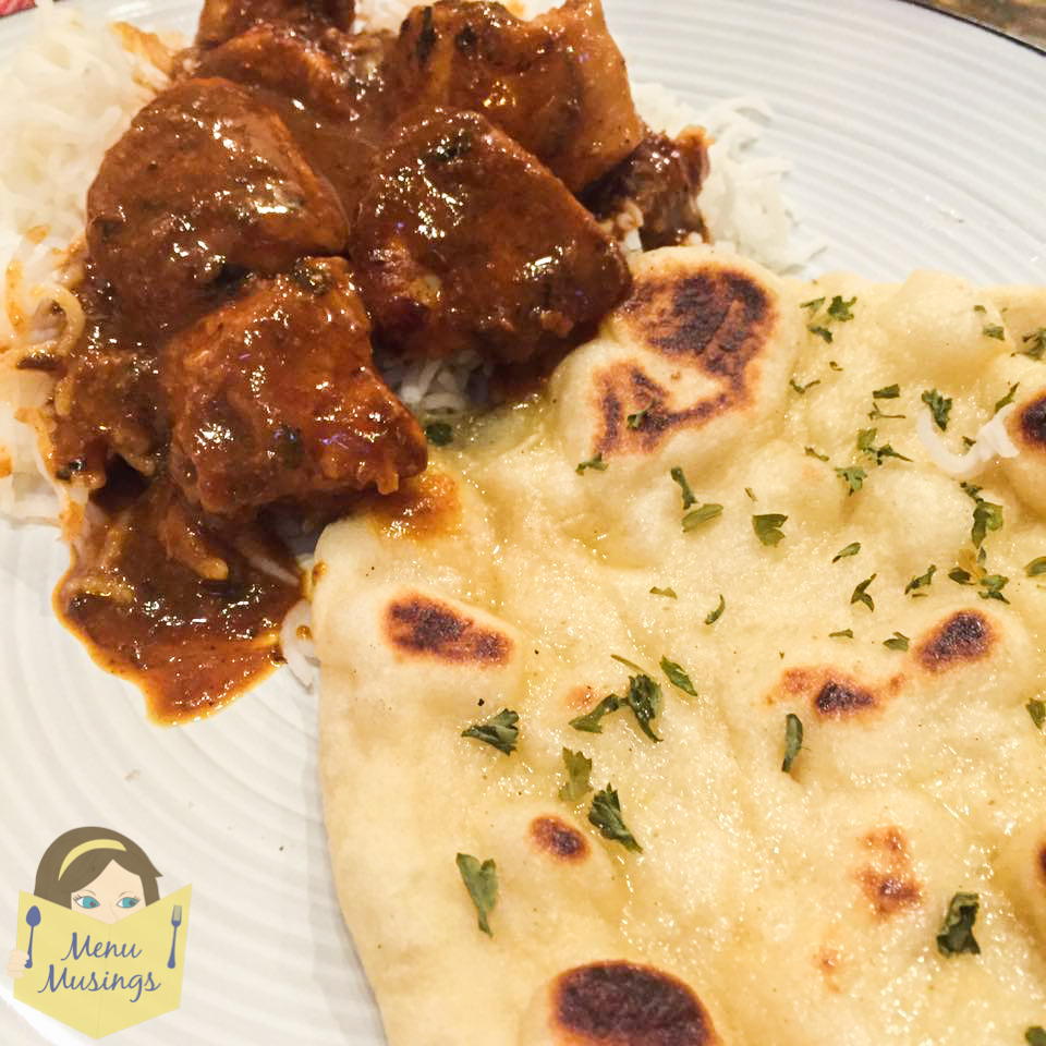 Menu musings of a modern american mom easy homemade naan indian indian foods butter chicken but however you eat yours make sure you have extra sauce on your plate because the naan is perfect for running forumfinder Choice Image