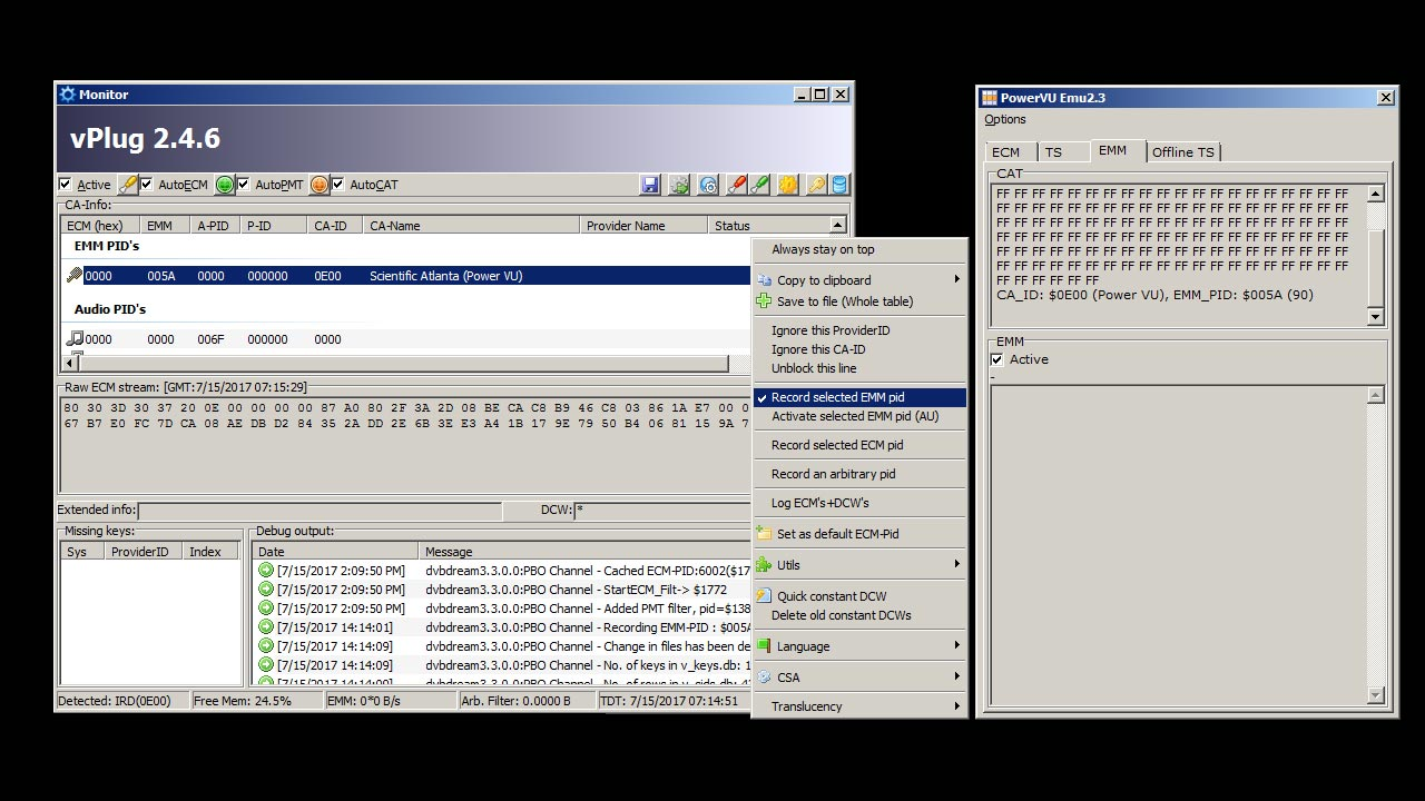 ECM Key Powervu PBO Channel Measat 3A Tidak Autoroll