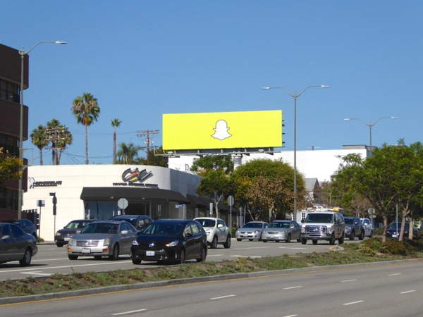 Snapchat ghost billboard