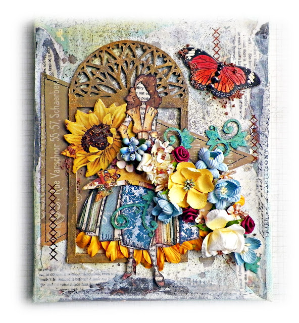 julie nutting canvas by Lisa Novogrodski for Scraps of Elegance using Traceys Country Kitchen Kit