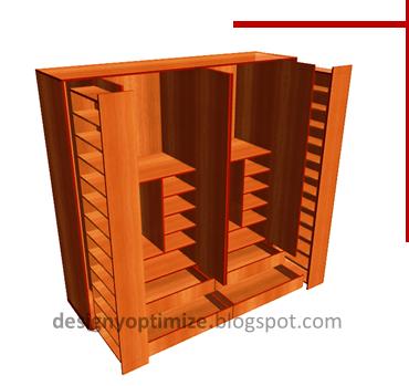 Dise o de muebles madera creaci n de armario con for Planos de roperos