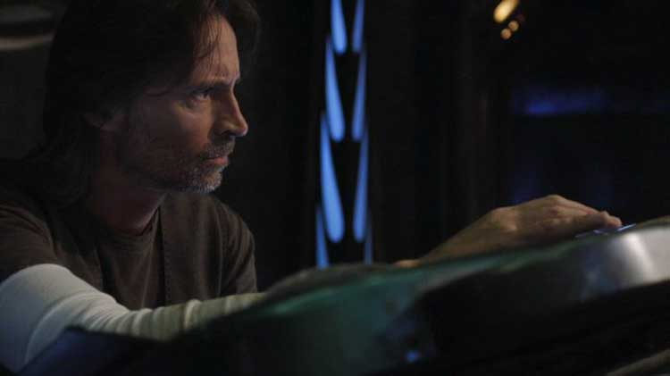 "Robert Carlyle as Rush in the Stargate Universe episode ""Pain"""