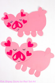 How to Make easy heart pigs for Valentine's Day and Chinese New Year