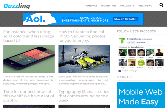 Dazzling Blogger Template