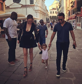 Adorable family picture of John Legend his wife Chrissy Teigen and her daughter Luna