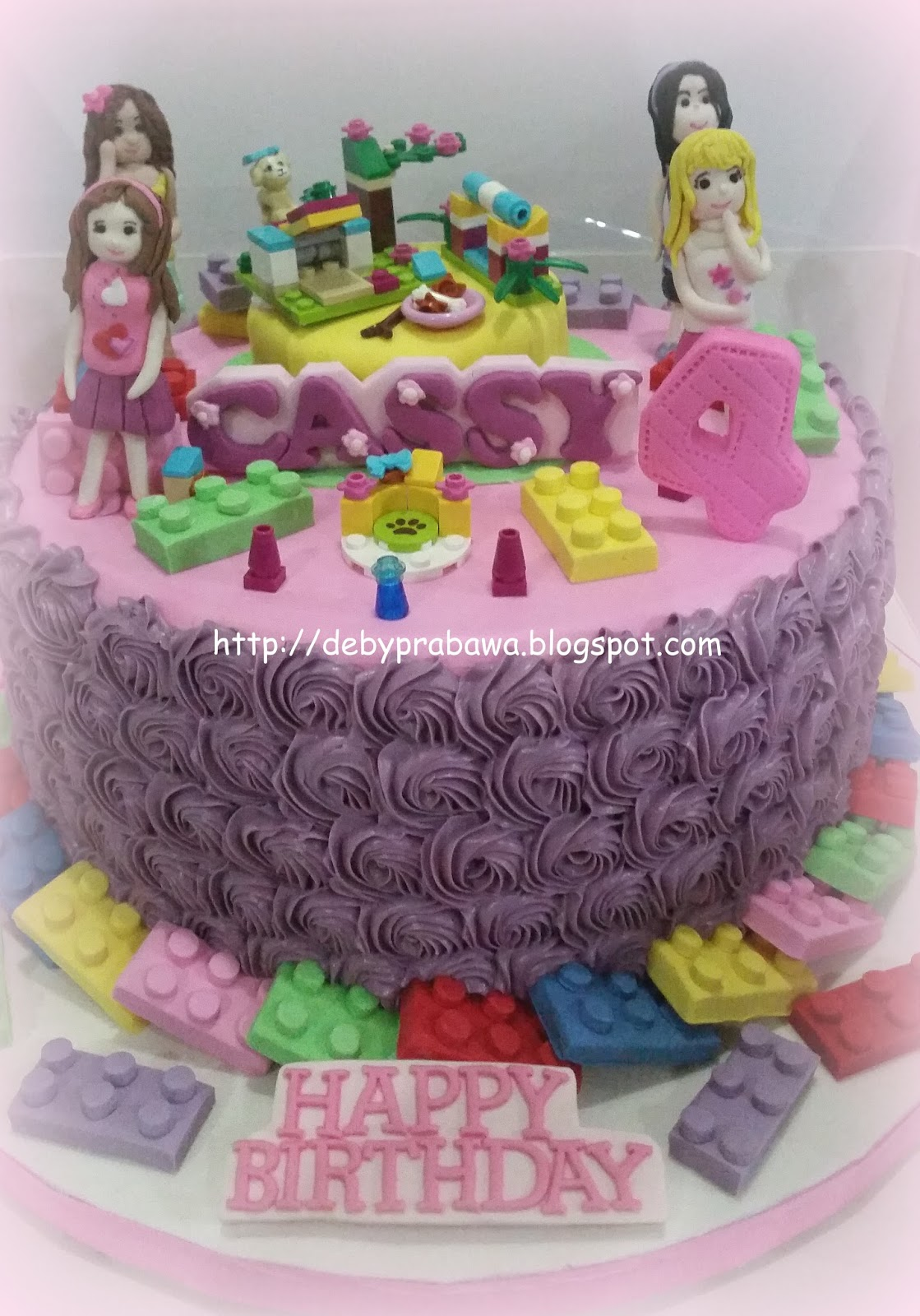 Butterfly Cake Lego Friends Cake