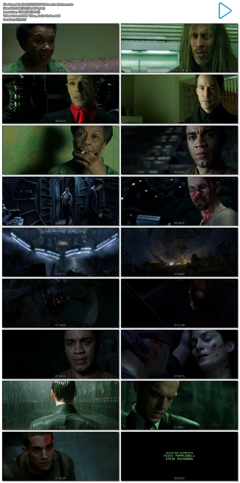 The Matrix Revolutions 2003 Hindi Dual Audio 720p HEVC BluRay Free Download