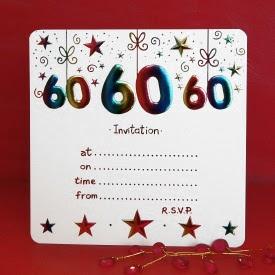 Tarjetas De Invitación Fiestas De Cumpleaños 60 Años