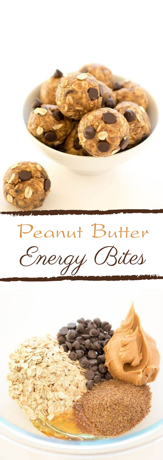 5 Ingredient Peanut Butter Energy Bites #breakfast #healthy
