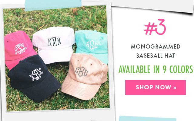 monogrammed baseball hat from marleylilly.com
