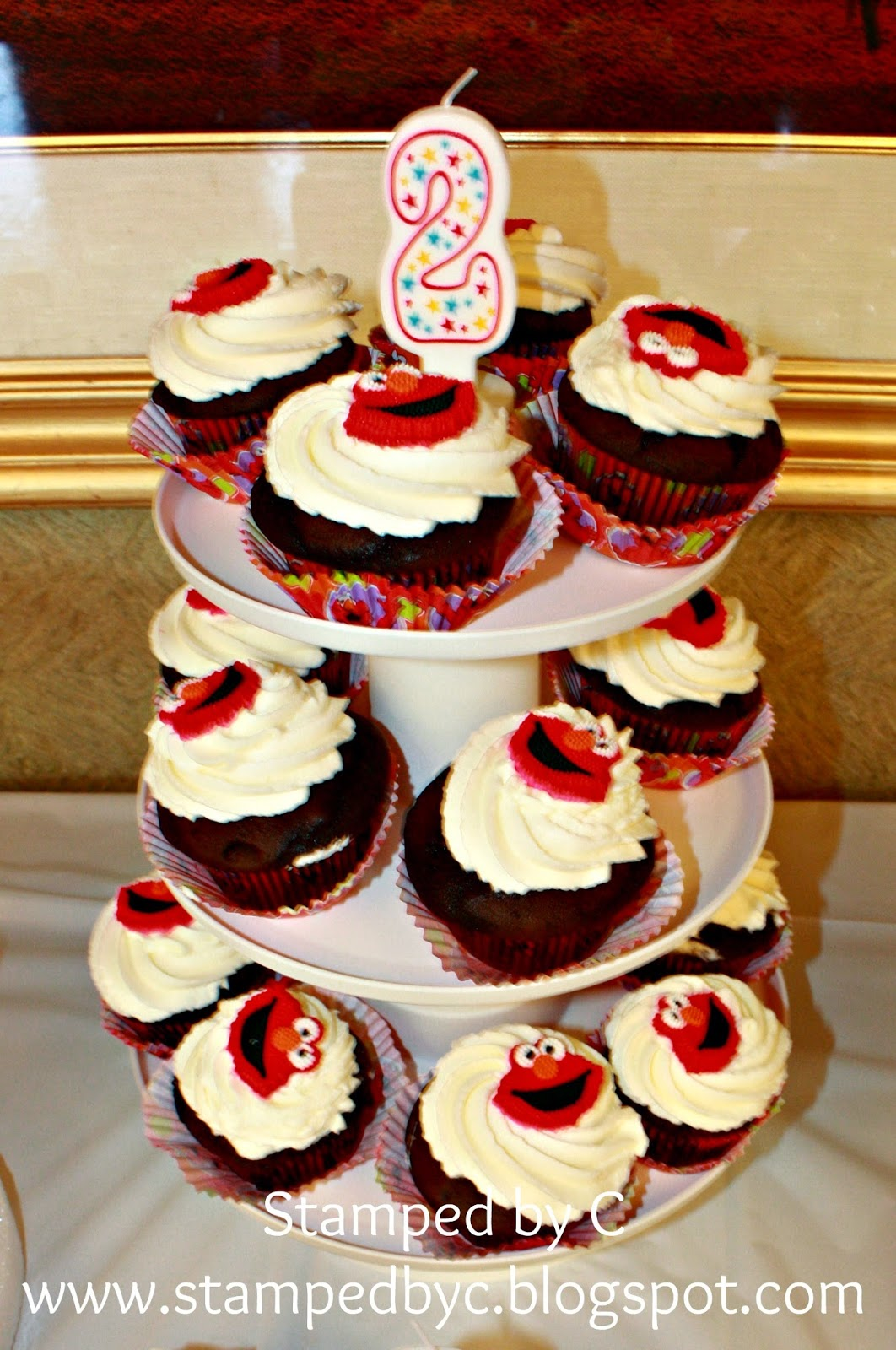 Elmo Bedroom Decorating Ideas: Stamped By C: R's Elmo-themed 2nd Birthday Party