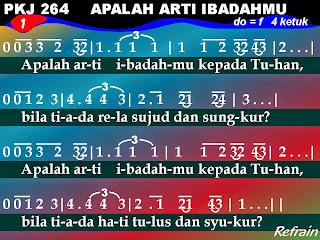 Kord Gitar Lagu PKJ 264 Apalah Arti Ibadahmu
