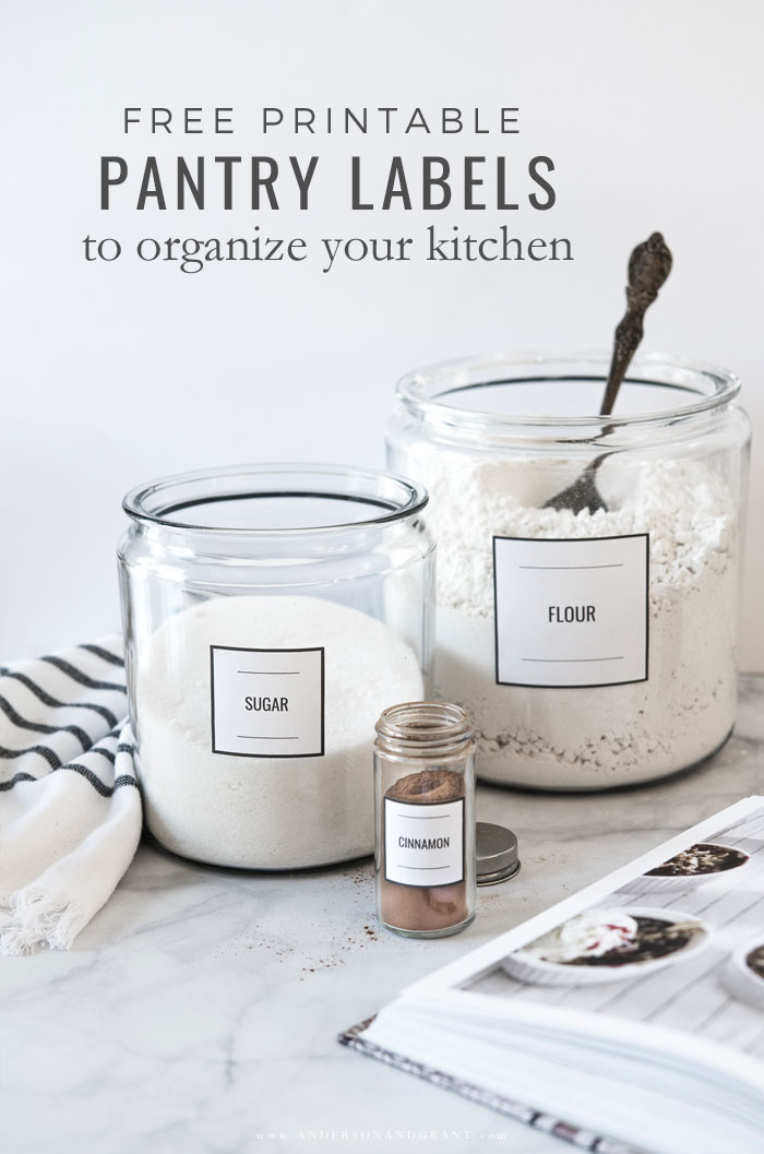 Labeling Your Pantry + Free Labels and Organizing Tips anderson +