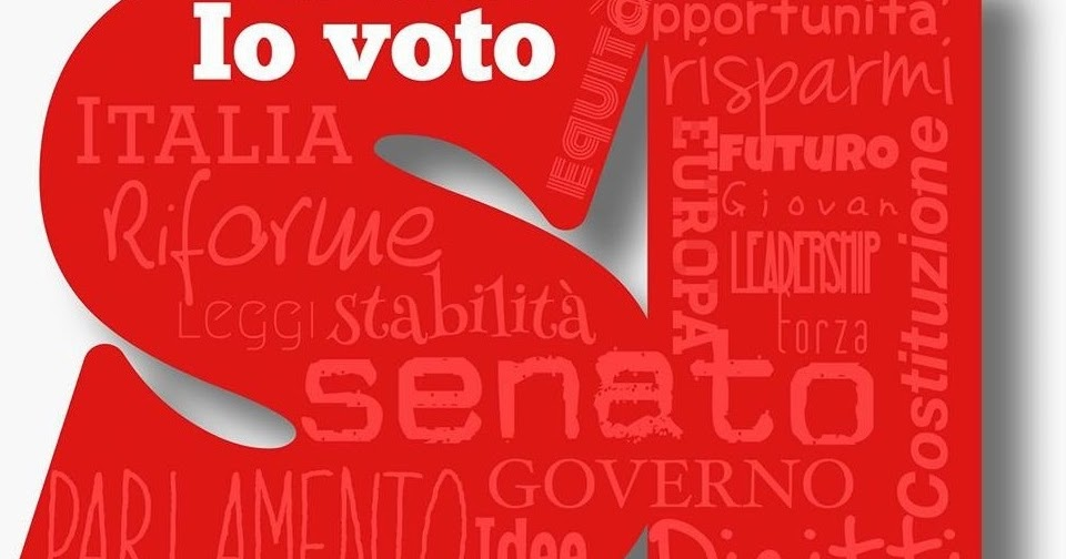 Referendum basta un s per cambiare l for Numero dei parlamentari in italia
